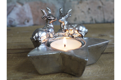 Stag Candle Tea Light Holder | furniturechecklist.co.uk