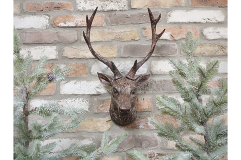 3 x Wall Mounted Stag Head Wall Art | furniturechecklist.co.uk