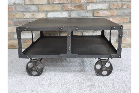 Industrial Cart Wheels Coffee Table | Furniture Checklist