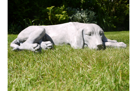 Laying Dog Garden Ornament | Furniture Checklist