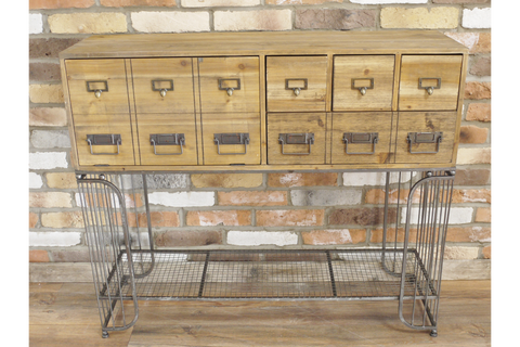 WIRE CABINET INDUSTRIAL STYLE W106cm x H90cm x D33cm | furniturechecklist.co.uk
