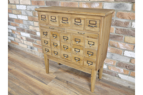 MULTI DRAWER WOODEN FILING CABINET H83cm W74cm D32cm | furniturechecklist.co.uk