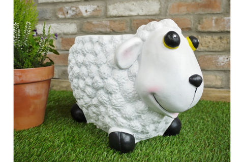 Resin Sheep Garden Stool Garden Ornaments & Lawn Statues | furniturechecklist.co.uk