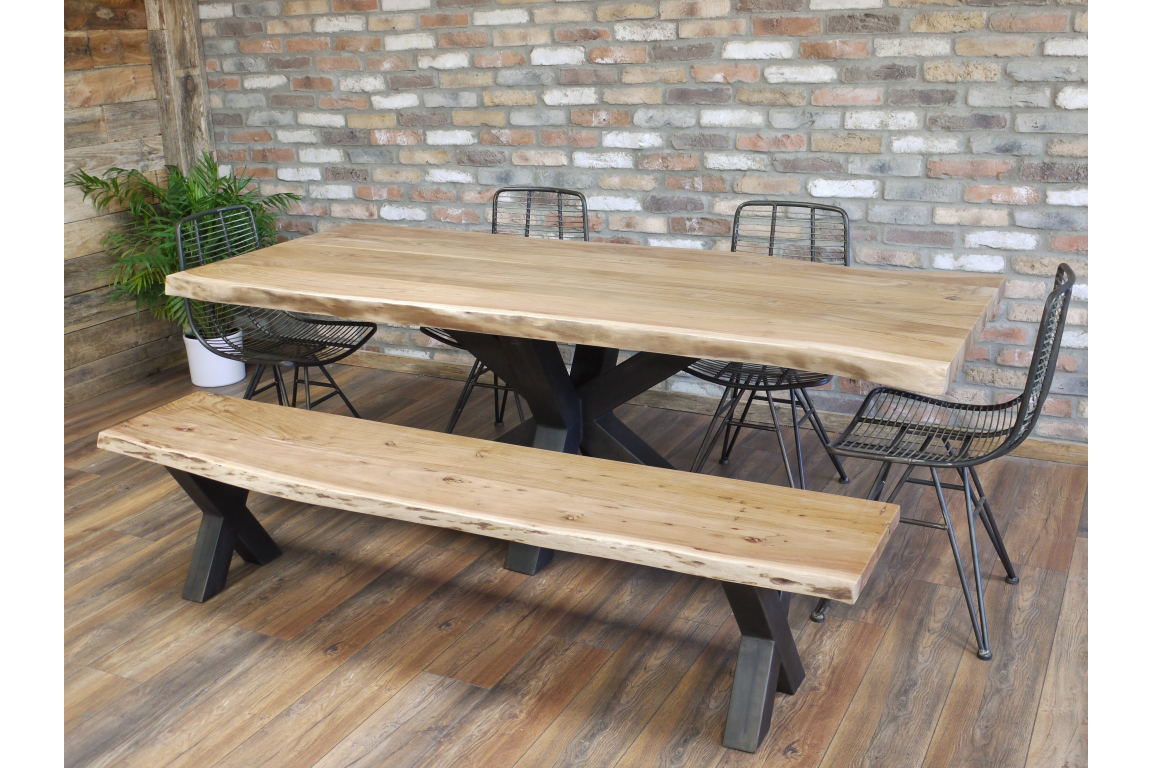 Picture of: Live Edge Solid Wood Dining Table Bench Furniture Checklist