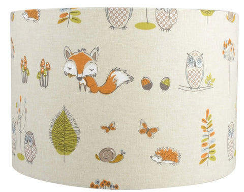 Fryett's Woodland Fox and Owl Handmade Lampshade Furniture Checklist