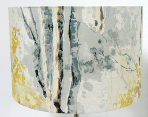 Birch Tree Handmade Drum Lampshade Ceiling Table Lamp Shade | furniturechecklist.co.uk