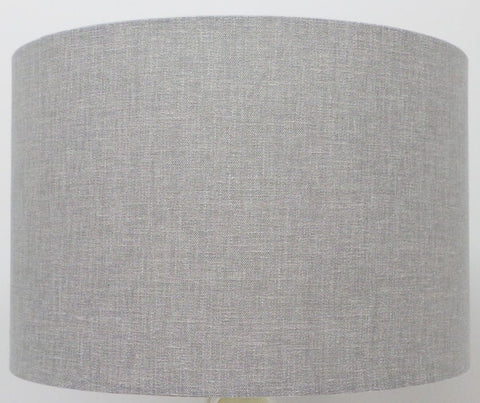 'Lilly' Grey Linen Handmade Drum Lampshade | Furniture Checklist