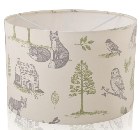 Forest Animals Handmade Drum Lampshade | furniturechecklist.co.uk