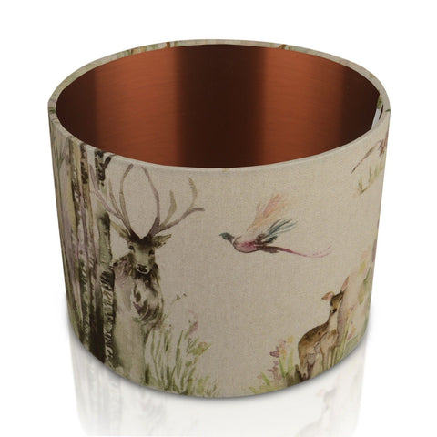 Enchanted Forest Copper Style Inner Handmade Drum Lampshade | furniturechecklist.co.uk