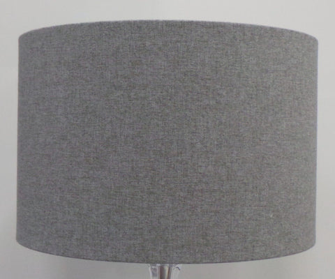 Mira Grey Brushed Linen Handmade Drum Lampshade | Furniture Checklist