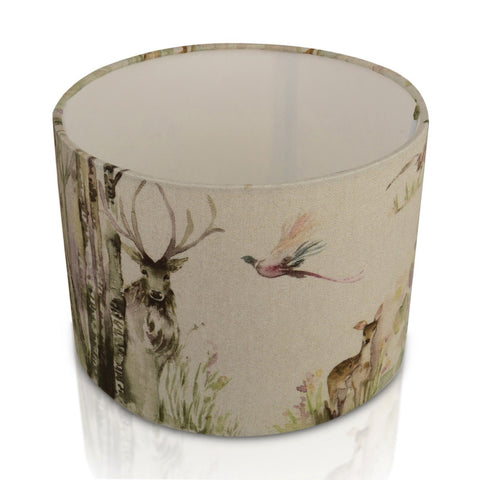 Enchanted Forest Deer / Stag Drum Lampshade | furniturechecklist.co.uk