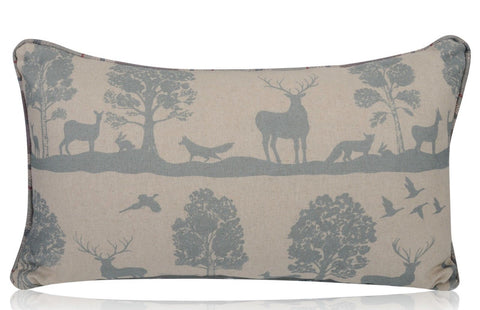 CairnGorms Loch  Duck Egg Filled Bolster Cushion | furniturechecklist.co.uk