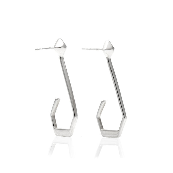 Diamond Rock Hoop Earrings