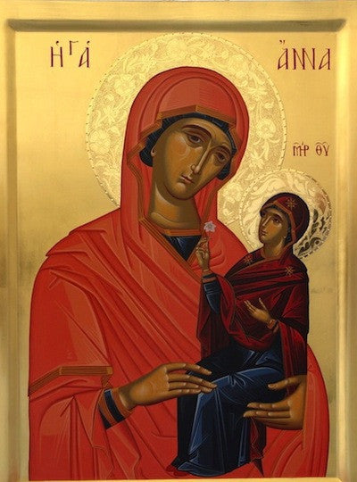 Theotokos  and Saint Anna icon