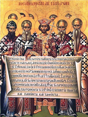 First Ecumenical Council of Nikea Icon (1)