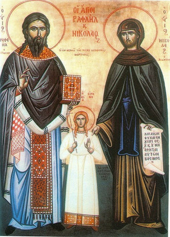 Ss. Raphael, Nicholas and Irene icon (2)