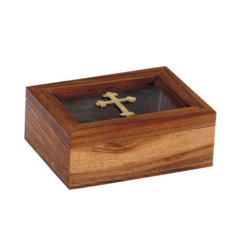 Wooden Box w/glass 9434