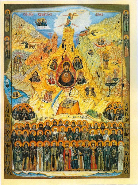 Synaxis of All the Saints of Mount Sinai icon.