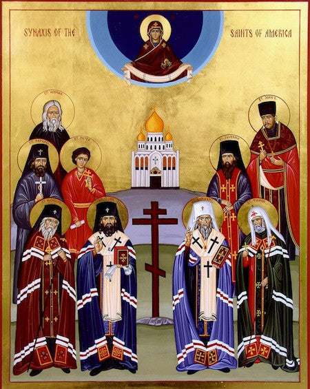 Synaxis of All the Saints of America icon