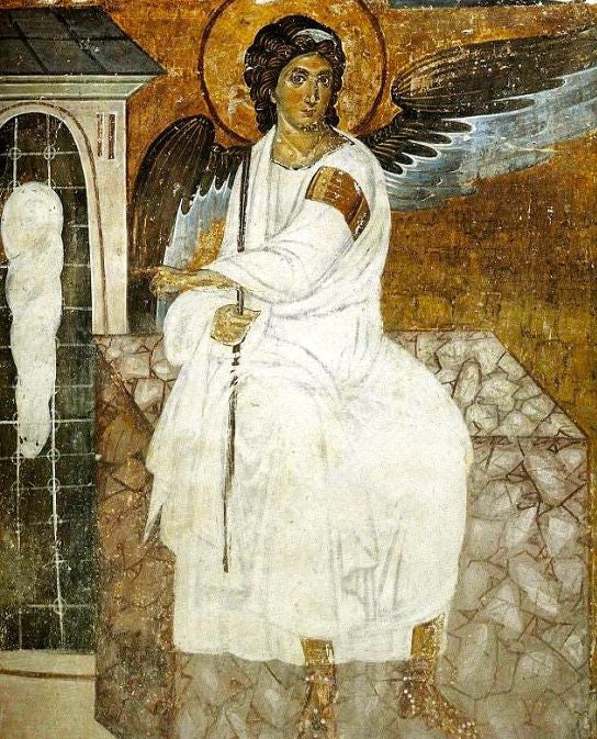 The White Angel of the Tomb icon
