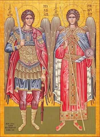 Archangels Michael and Gabriel icon (2)