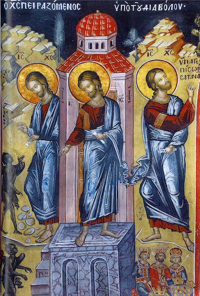 Three Temptations of our Lord Jesus Christ icon