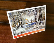 Folding Christmas Card with a Church (1)