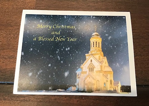Folding Christmas Card with a Church (2)