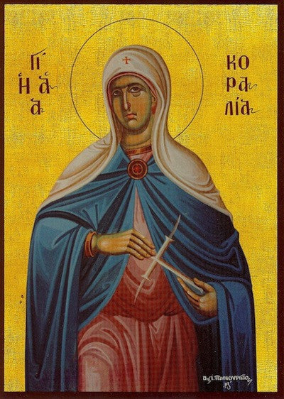 St. Coralia the Martyr icon
