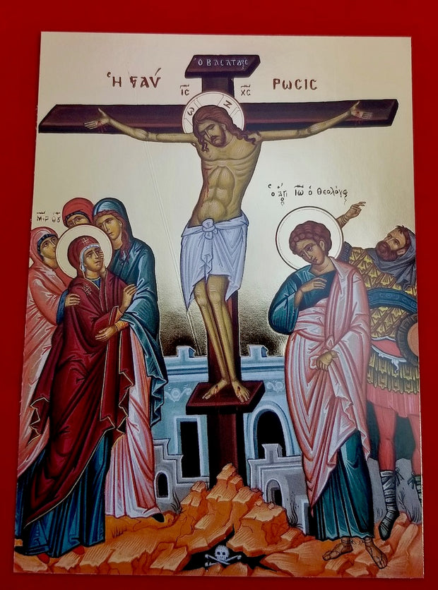 Crucifixion of our Lord icon (GF)