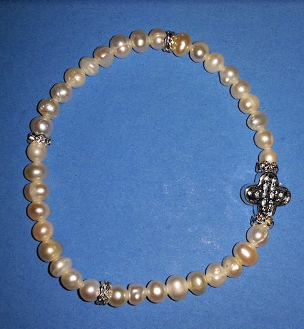 Cultured Pearls Prayer Bracelet (TB2)