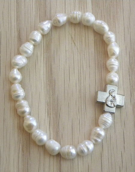 Cultured Pearls Prayer Bracelet (TB3)