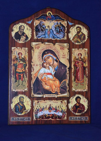 Theotokos with icons