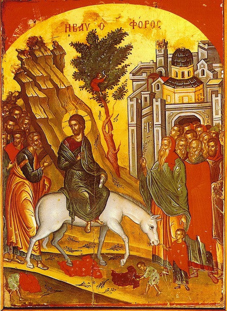 Entry of Christ to Jerusalem icon (Palm Sunday) (1)