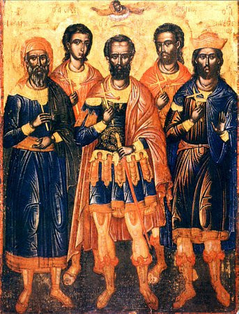 St. Efstratius and his companions the Holy Martyrs