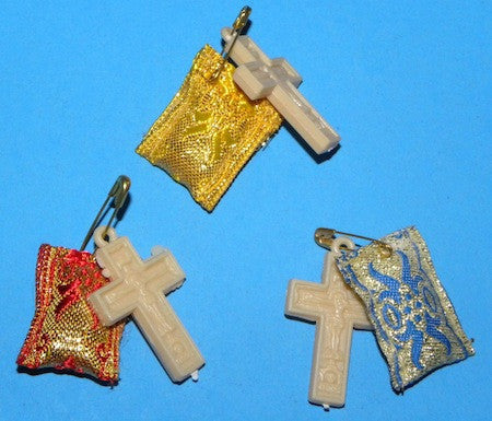 Filakto (amulet ) with pin and Cross