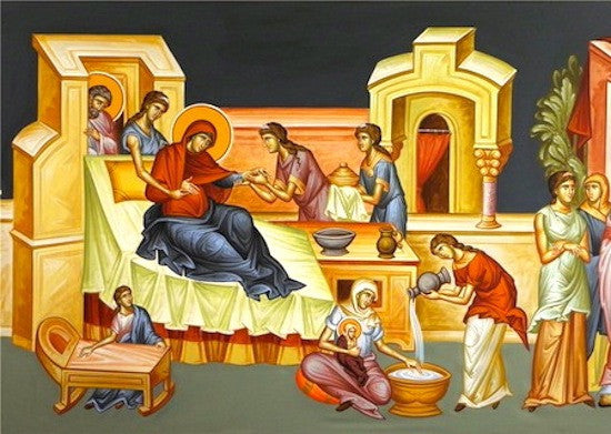Image result for nativity of the theotokos icon