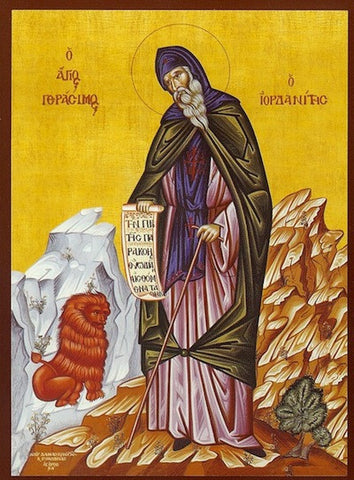 St. Gerasimus of Jordan River icon