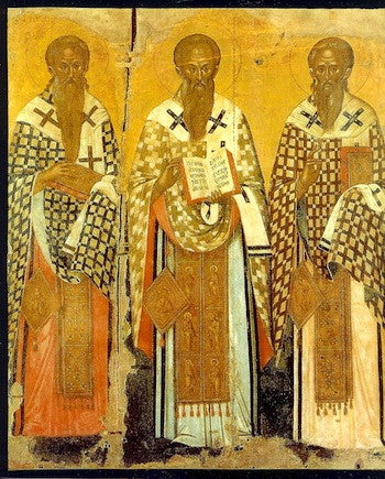 Three Hierarchs (Basil, Gregory, John) icon (2)