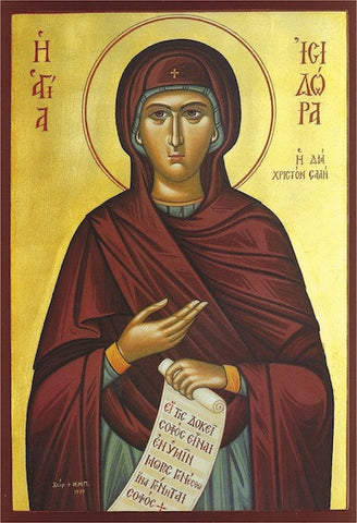 St. Isidora the Fool for Christ icon