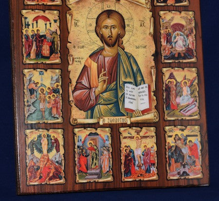 Jesus Christ with scenes of His life