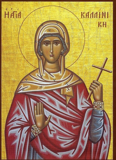 St. Callinike  Martyr of Rome icon