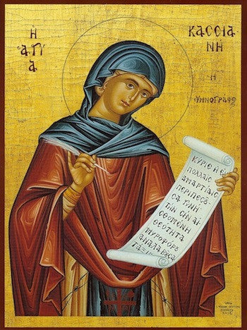 St. Kassiane the Hymnographer icon