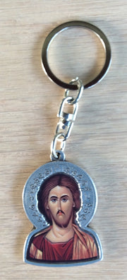 Metal Key Chain with Jesus Christ