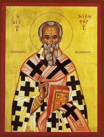 St. Nicephorus the Confessor Patriarch of Constantinople icon