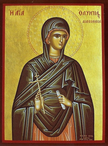 St. Olympias the Deaconess icon