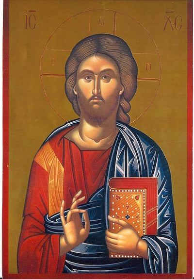 Jesus Christ and Most Holy Theotokos Pair Icons (P18)