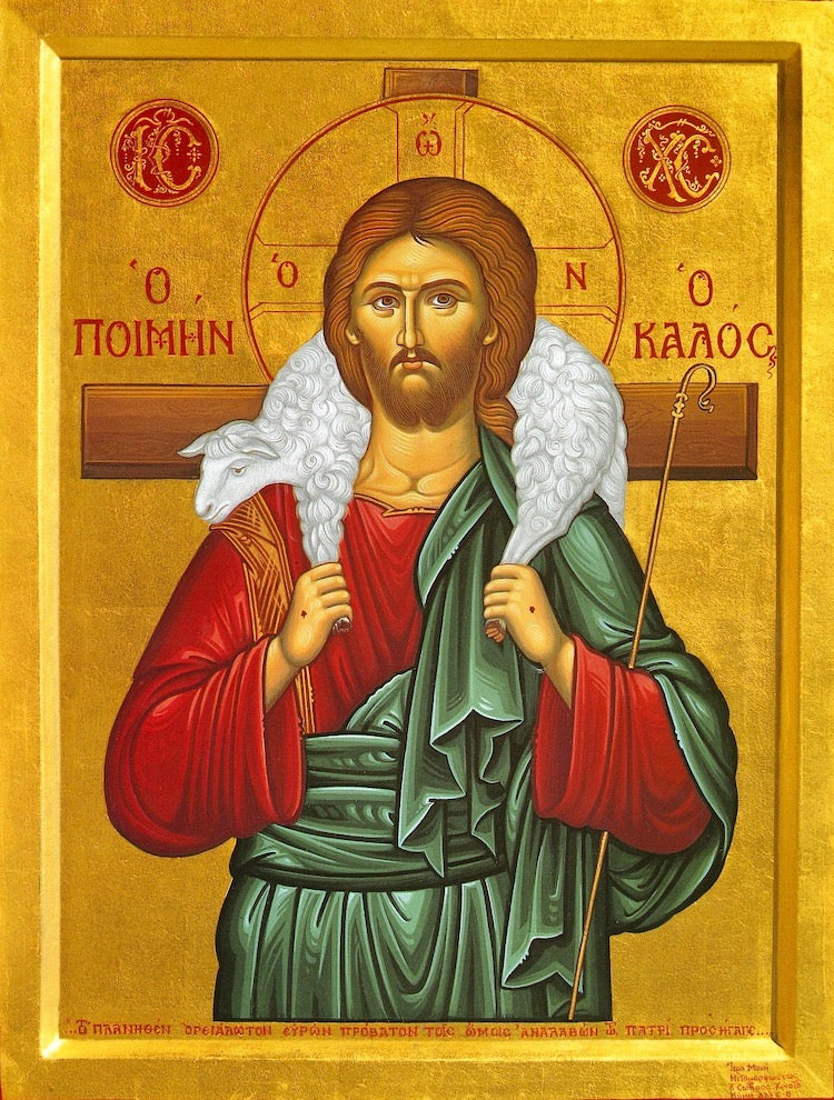 Greek orthodox icon of Christ the Good Shepherd – orthodoxmonasteryicons.com
