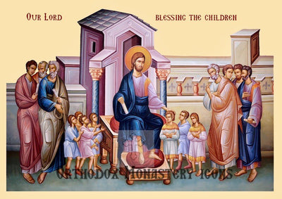 Christ and the children Icon (1)