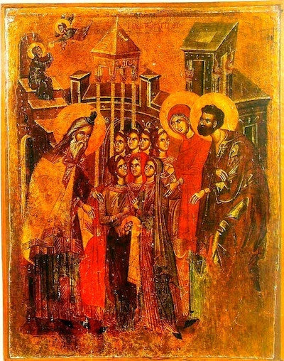 Entrance of Theotokos into the Temple icon (7)